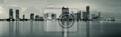 """Постер Города и карты """"Майами, ночная сцена"""", 65x20 см, на бумаге от Artwall"""