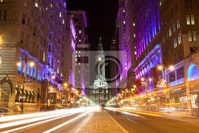 """Постер Города и карты """"Филадельфия улицам ночью"""", 30x20 см, на бумаге от Artwall"""