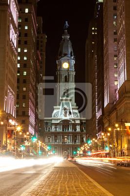 """Постер Города и карты """"Филадельфия улицам ночью"""", 20x30 см, на бумаге от Artwall"""