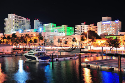 """Постер Города и карты """"South beach, Майами-стрит"""", 30x20 см, на бумаге от Artwall"""