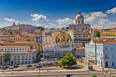 """Постер Города и карты """"Красивый вид на Лиссабон старого города, Португалия"""", 30x20 см, на бумаге от Artwall"""