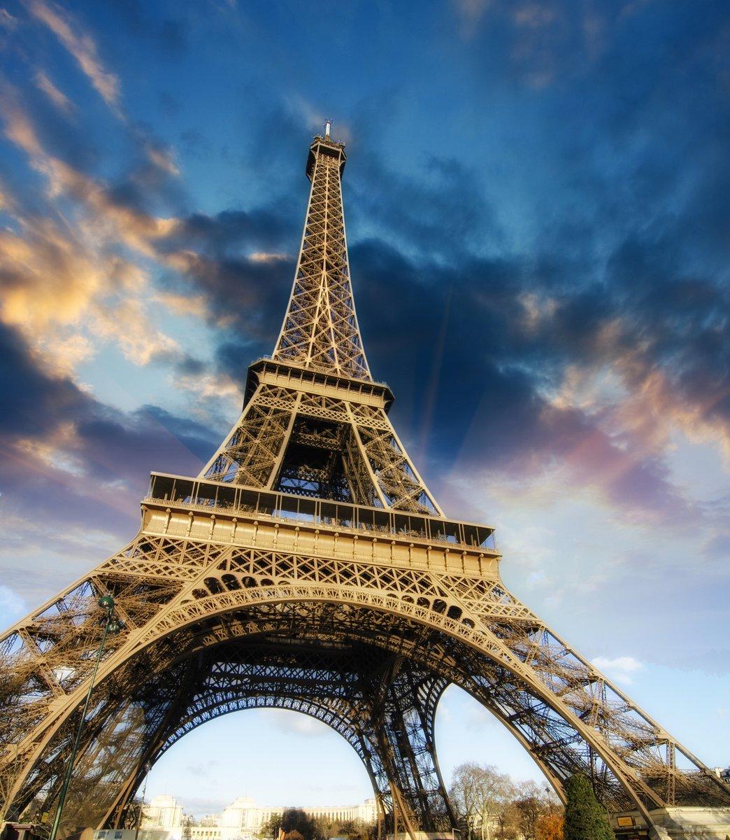"""Постер Города и карты """"Эйфелева башня в Париже"""", 20x23 см, на бумаге от Artwall"""