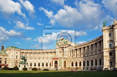 """Постер Города и карты """"Австрийской Национальной Библиотеке в живописном облачное небо"""", 30x20 см, на бумаге от Artwall"""