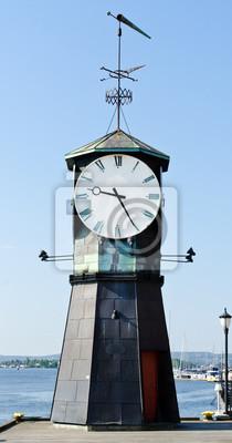 """Постер Города и карты """"Башня с часами"""", 20x38 см, на бумаге от Artwall"""