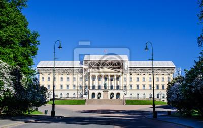"""Постер Города и карты """"Slottet царский дворец, резиденция Короля Норвегии"""", 32x20 см, на бумаге от Artwall"""