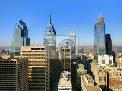 """Постер Города и карты """"Филадельфия, Центр Города"""", 27x20 см, на бумаге от Artwall"""