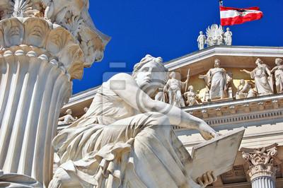 """Постер Города и карты """"Парламент Австрии, Вена"""", 30x20 см, на бумаге от Artwall"""