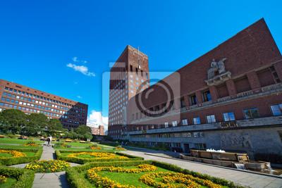 """Постер Города и карты """"Oslo City Hall"""", 30x20 см, на бумаге от Artwall"""