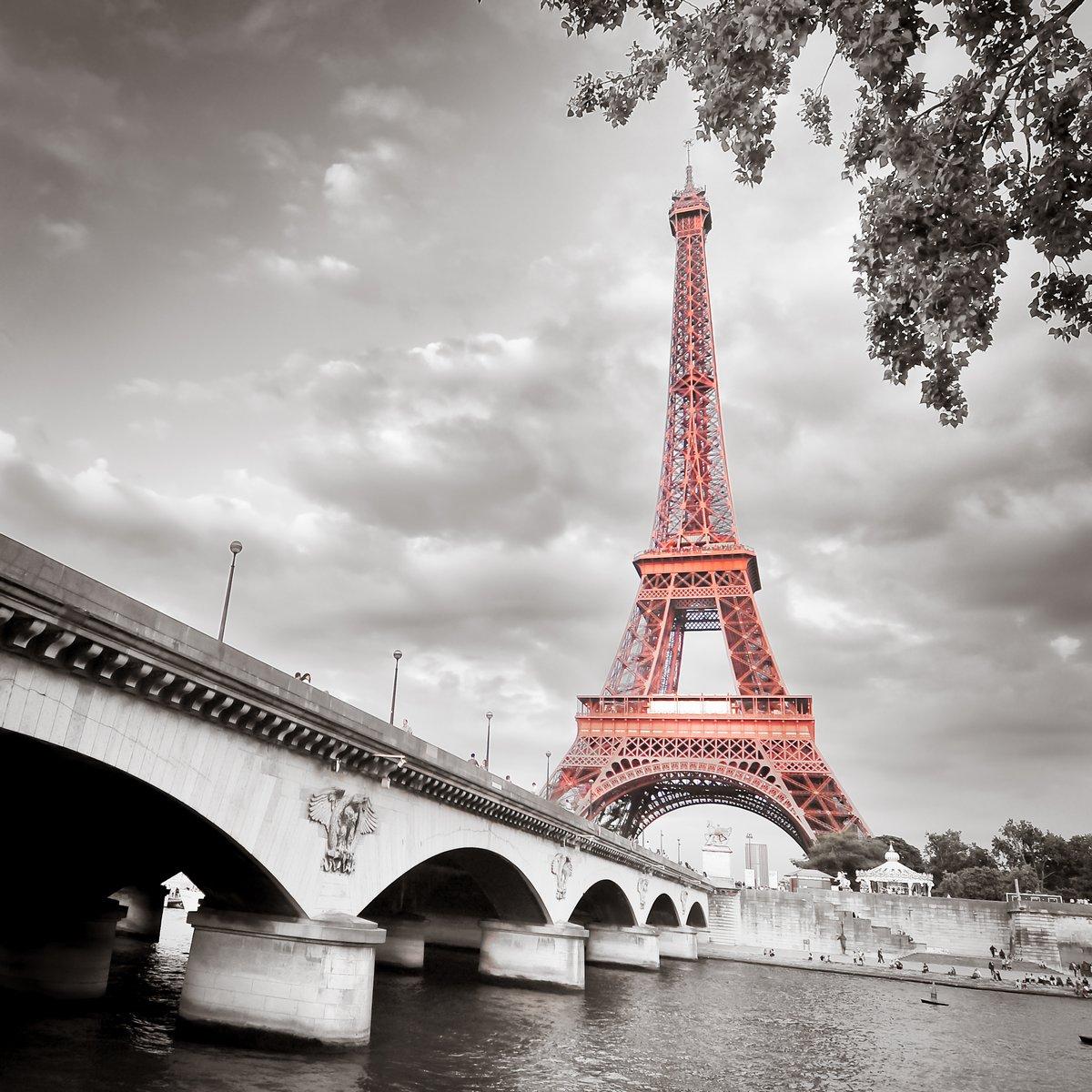 """Постер Города и карты """"Эйфелева башня"""", 20x20 см, на бумаге от Artwall"""