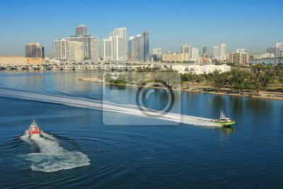 """Постер Города и карты """"Майами-день"""", 30x20 см, на бумаге от Artwall"""