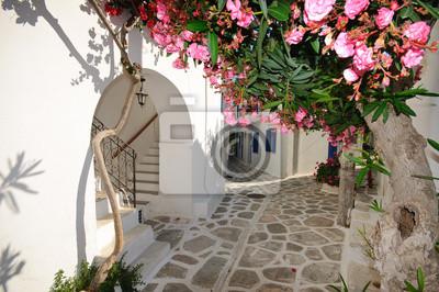 """Постер Города и карты """"Небольшие backstreet на остров Аморгос, Греция"""", 30x20 см, на бумаге от Artwall"""