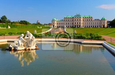 """Постер Города и карты """"Дворец Бельведер в Вене, Австрия"""", 31x20 см, на бумаге от Artwall"""