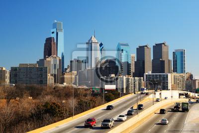 """Постер Города и карты """"Центре Филадельфии"""", 30x20 см, на бумаге от Artwall"""