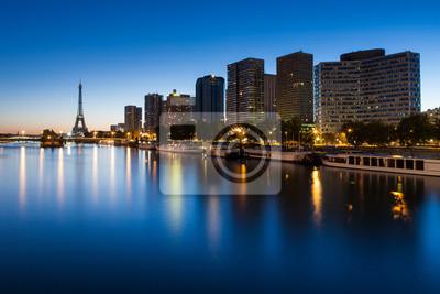 "Постер Города и карты ""Сена, Париж, Франция"", 30x20 см, на бумаге от Artwall"