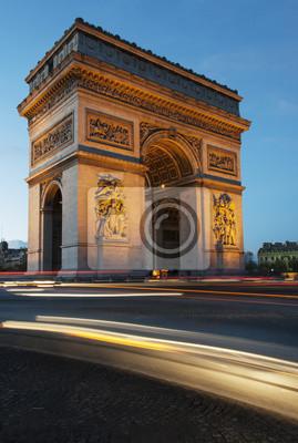 """Постер Города и карты """"Триумфальная арка ночью"""", 20x30 см, на бумаге от Artwall"""