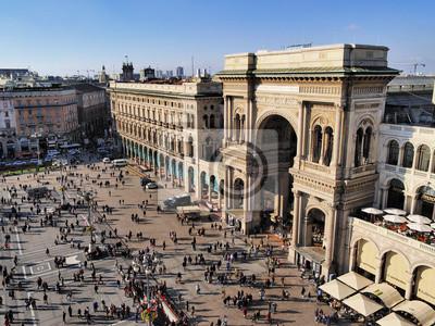 "Постер Города и карты ""Galleria Vittorio Emanuele II, Милан, Ломбардия, Италия"", 27x20 см, на бумаге от Artwall"