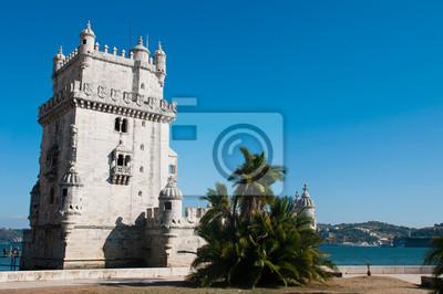 """Постер Города и карты """"Башня Белен в Лиссабоне"""", 30x20 см, на бумаге от Artwall"""