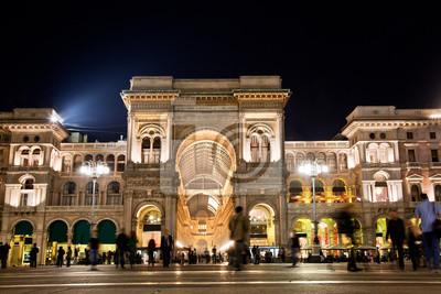 """Постер Города и карты """"Vittorio Emanuele II Галерея. Милан, Италия"""", 30x20 см, на бумаге от Artwall"""