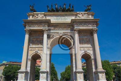 """Постер Города и карты """"Arco della Pace, Милан"""", 30x20 см, на бумаге от Artwall"""