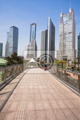 """Постер Города и карты """"Городской парк с современными строительными фона в Шанхае"""", 20x30 см, на бумаге от Artwall"""