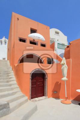 """Постер Города и карты """"Красочные дом в ия, Санторини, Греция"""", 20x30 см, на бумаге от Artwall"""