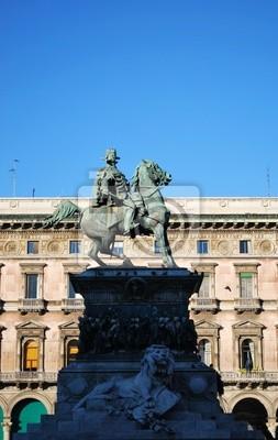 """Постер Города и карты """"Vittorio Emanuele II, памятник, Милан, Италия"""", 20x32 см, на бумаге от Artwall"""