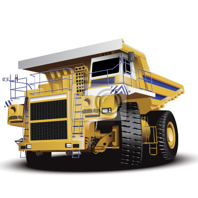 """Постер """"Огромный грузовик"""", 20x20 см, на бумаге от Artwall"""