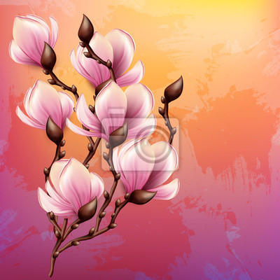 """Постер Цветы """"Постер 53022407"""", 20x20 см, на бумаге от Artwall"""