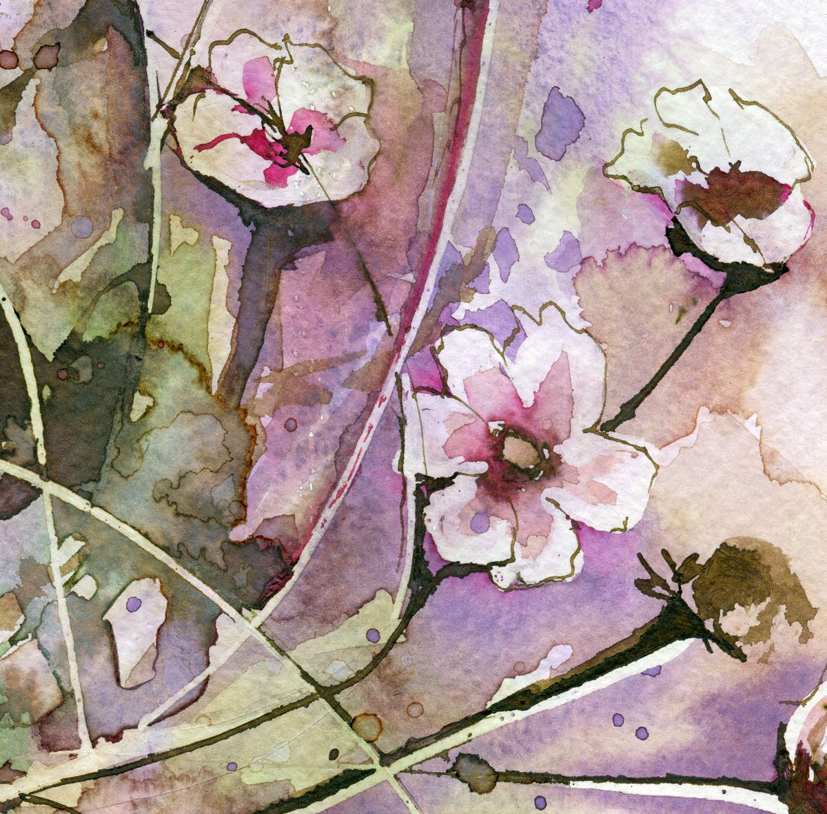"""Постер Цветы """"Постер 78553078-510316"""", 20x20 см, на бумаге от Artwall"""