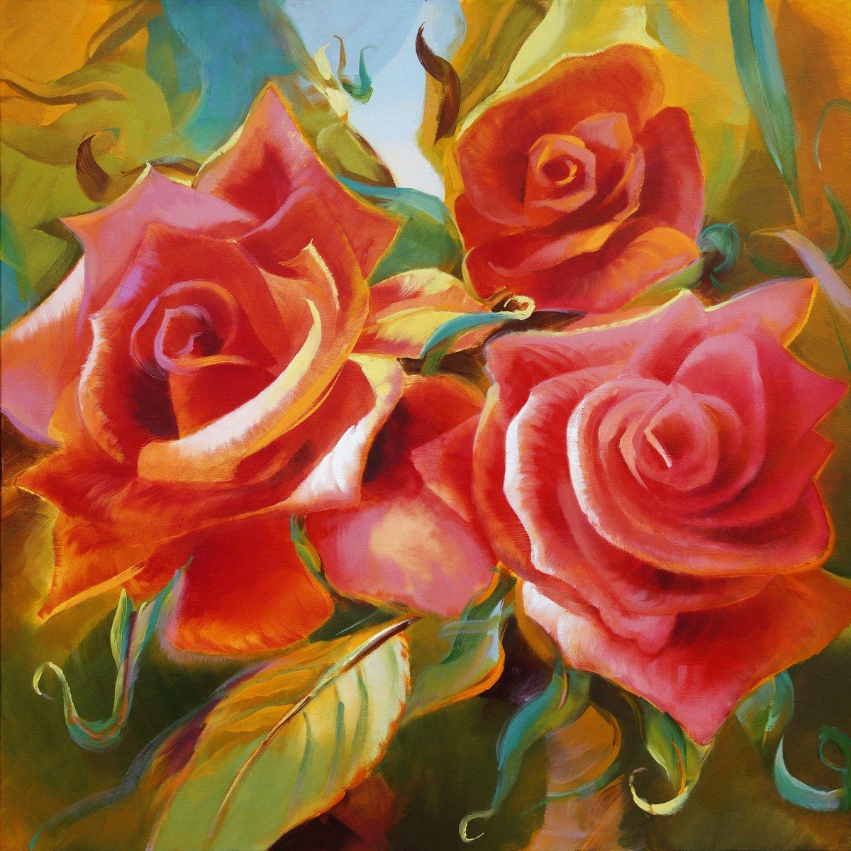 """Постер Цветы """"Постер 96014535-510316"""", 20x20 см, на бумаге от Artwall"""