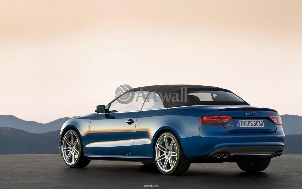 """Постер """"Audi S5 Cabriolet"""", 32x20 см, на бумаге от Artwall"""