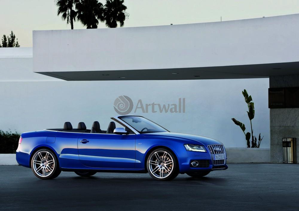 """Постер """"Audi S5 Cabriolet"""", 28x20 см, на бумаге от Artwall"""