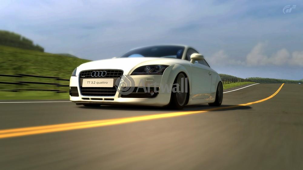 """Постер """"Audi TT Coupe"""", 36x20 см, на бумаге от Artwall"""