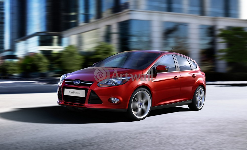 "Постер ""Ford Focus Hatchback"", 33x20 см, на бумаге от Artwall"