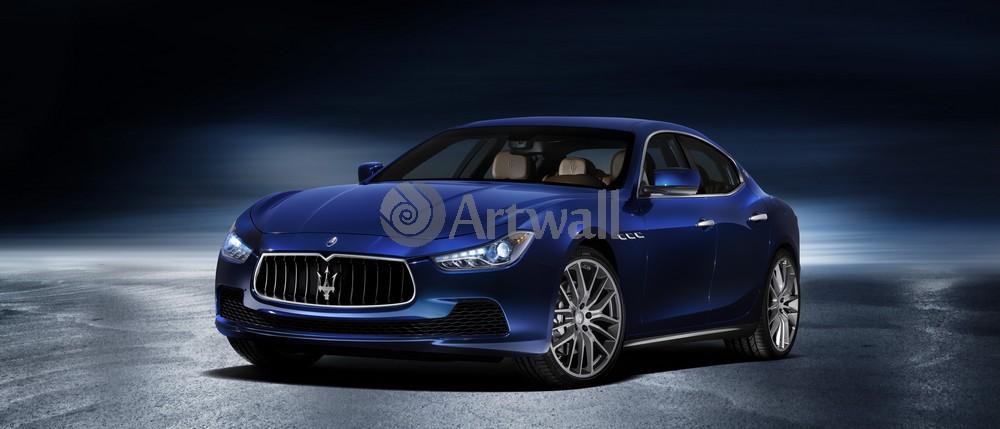 """Постер """"Maserati Ghibli"""", 47x20 см, на бумаге от Artwall"""