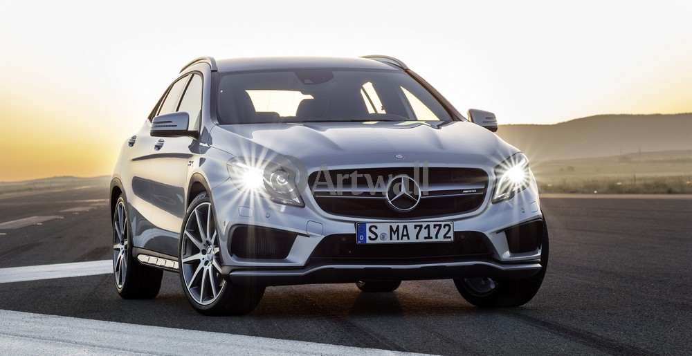 "Постер ""Mercedes-Benz GLA 45 AMG"", 39x20 см, на бумаге от Artwall"