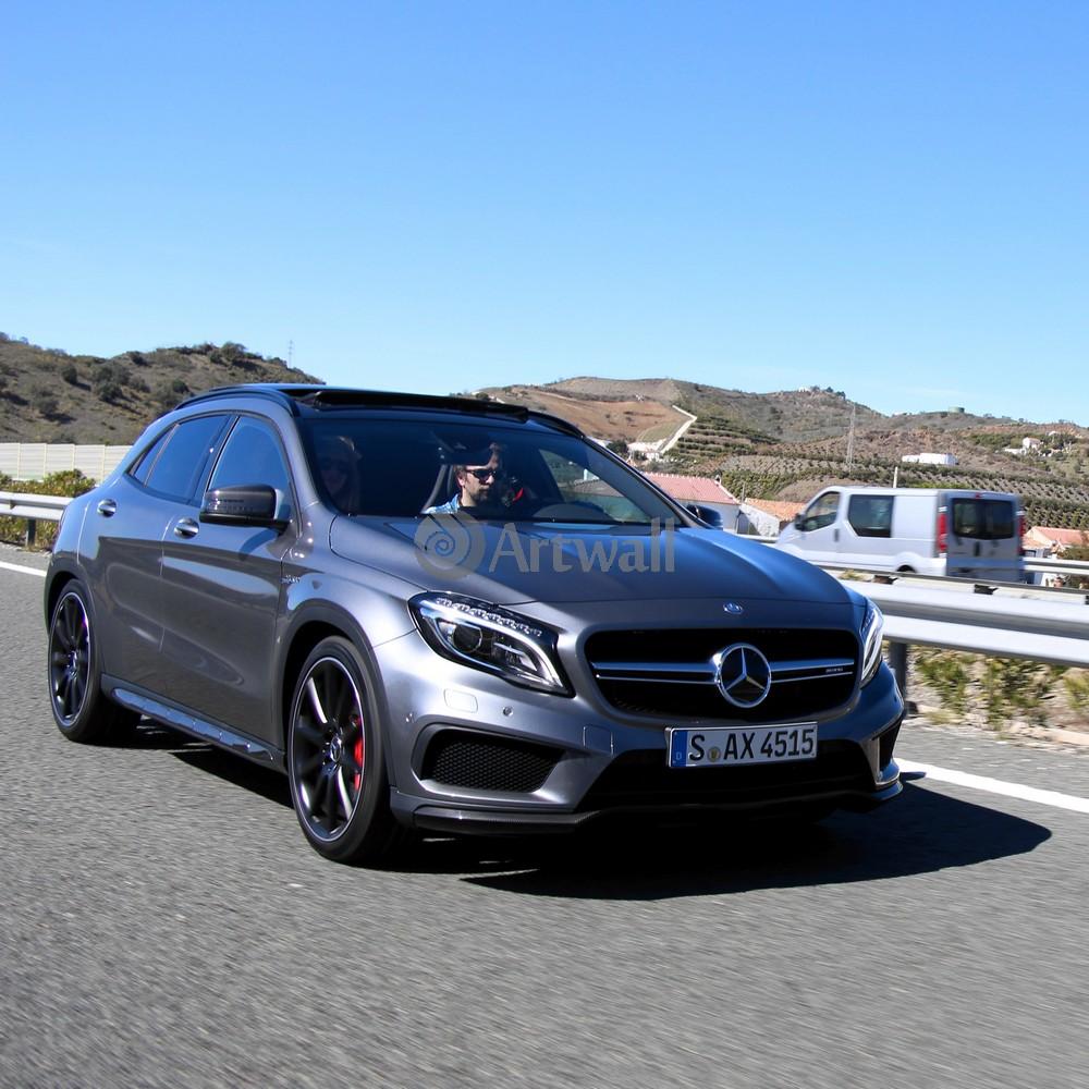 "Постер ""Mercedes-Benz GLA 45 AMG"", 20x20 см, на бумаге от Artwall"