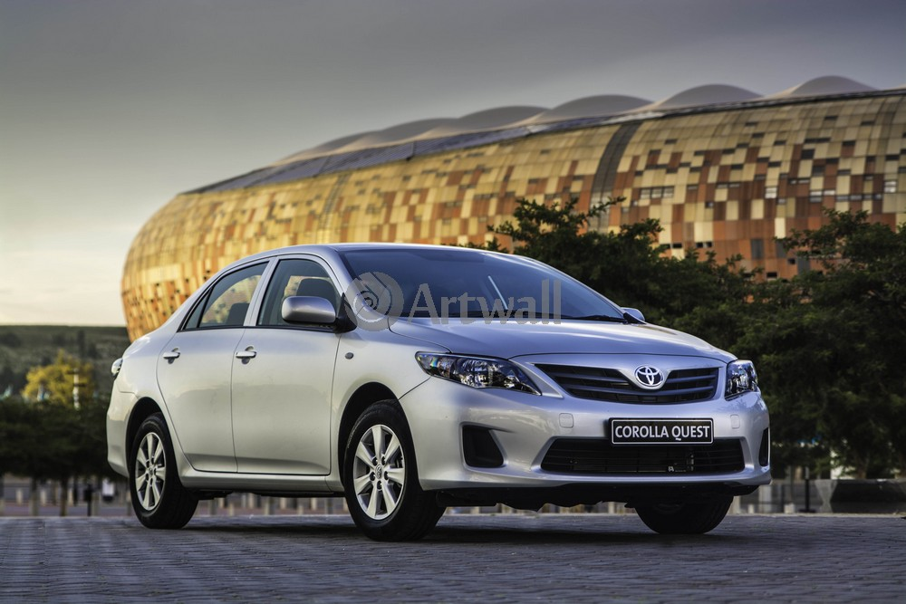 """Постер """"Toyota Corolla"""", 30x20 см, на бумаге от Artwall"""