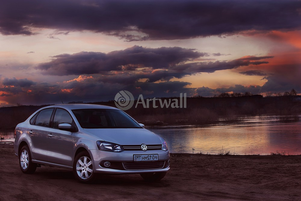 "Постер ""Volkswagen Polo Sedan"", 30x20 см, на бумаге от Artwall"