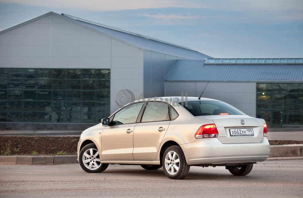 "Постер ""Volkswagen Polo Sedan"", 31x20 см, на бумаге от Artwall"