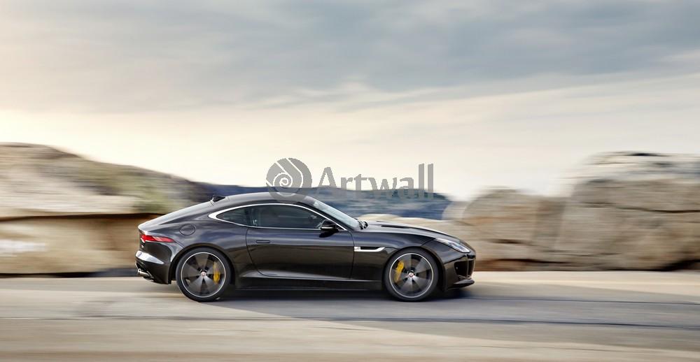 "Постер ""Jaguar F-Type Coupe"", 39x20 см, на бумаге от Artwall"