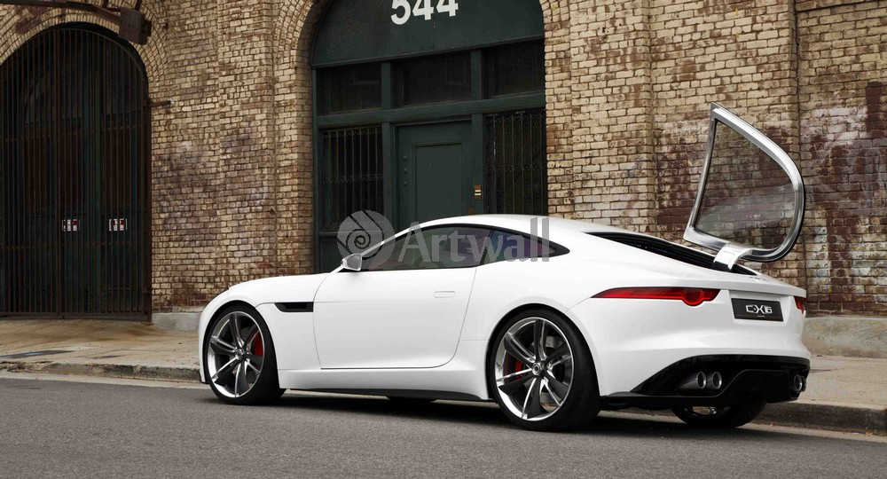 "Постер ""Jaguar F-Type Coupe"", 37x20 см, на бумаге от Artwall"