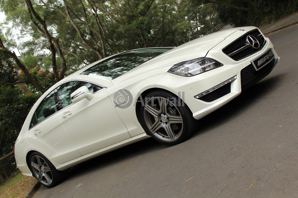 "Постер ""Mercedes-Benz CLS 63 AMG"", 30x20 см, на бумаге от Artwall"