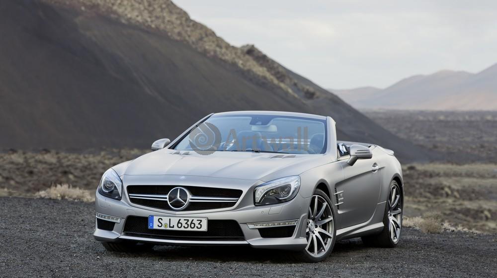 "Постер ""Mercedes-Benz SL 63 AMG"", 36x20 см, на бумаге от Artwall"