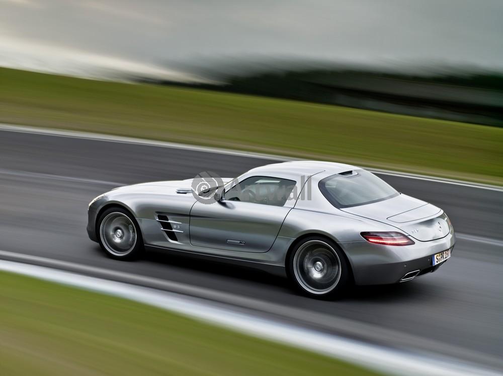 "Постер ""Mercedes-Benz SLS AMG"", 27x20 см, на бумаге от Artwall"