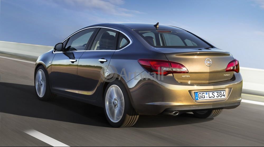 "Постер ""Opel Astra Sedan"", 36x20 см, на бумаге от Artwall"