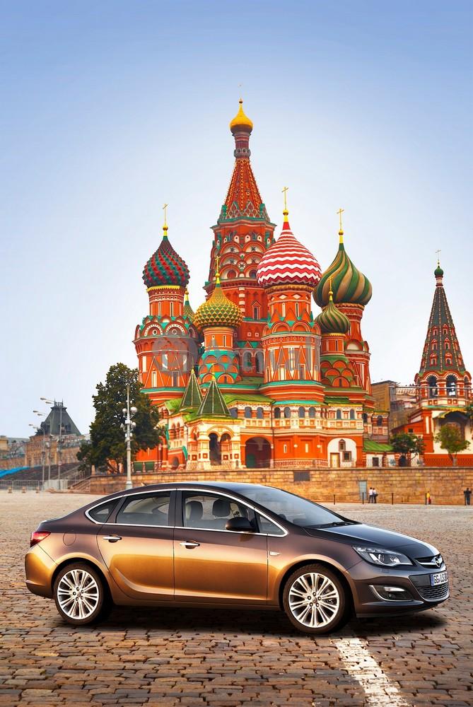 "Постер ""Opel Astra Sedan"", 20x30 см, на бумаге от Artwall"