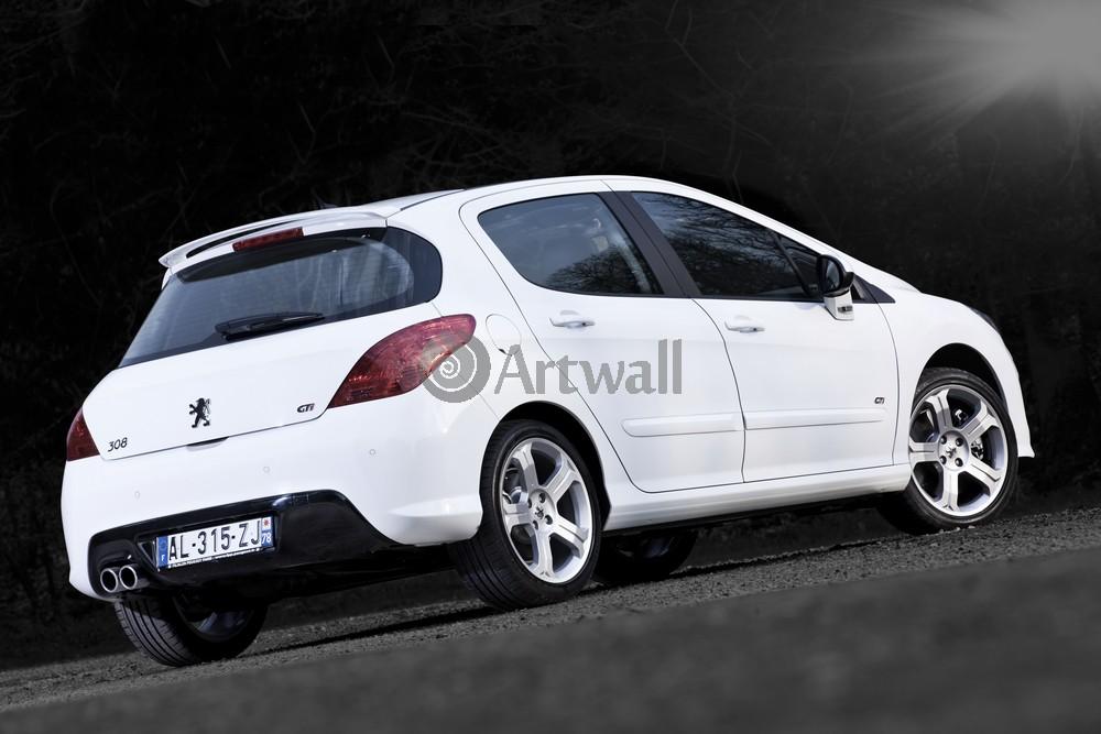 """Постер """"Peugeot 308 GTi"""", 30x20 см, на бумаге от Artwall"""