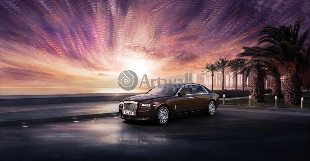 "Постер ""Rolls-Royce Ghost"", 39x20 см, на бумаге от Artwall"