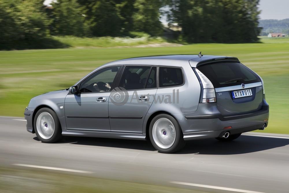 "Постер ""Saab 9-3 Sport Combi"", 30x20 см, на бумаге от Artwall"